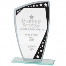 Cosmic Mirror Glass Award Black & Silver 190mm