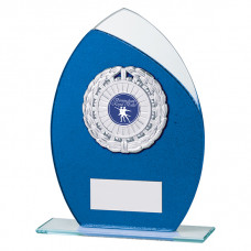 Draco Glitter Glass Award Blue 185mm
