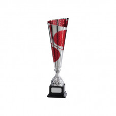 Quest Laser Cut Silver & Red Cup 385mm
