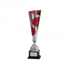 Quest Laser Cut Silver & Red Cup 395mm