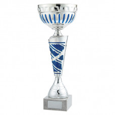 Charleston Cup Silver & Blue 360mm