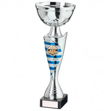 Commander Cup Silver & Blue 255mm